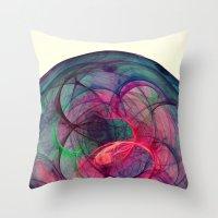 Phantom Heart Nebula I Throw Pillow