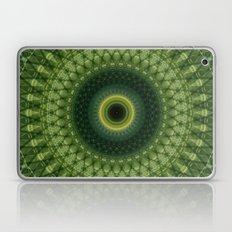 Mandala in green and yellow colors Laptop & iPad Skin