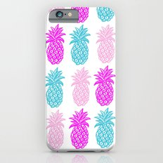 Pineapple bright pink and turquoise Slim Case iPhone 6s