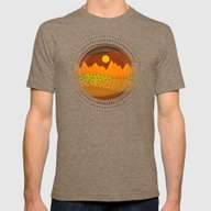 Color/Landscape 9     (B… Mens Fitted Tee Tri-Coffee SMALL