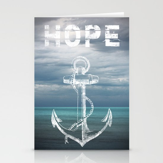 Hope Anchor Stationery Card