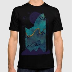 Northern Nightsky Black Mens Fitted Tee SMALL