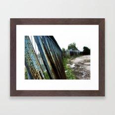 Blue Bars Framed Art Print