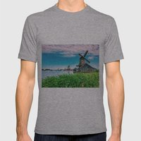 amazing windmills  Mens Fitted Tee Athletic Grey SMALL