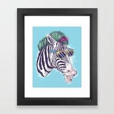 The East Village Zebra Punks Framed Art Print