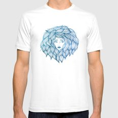 Hair White Mens Fitted Tee SMALL