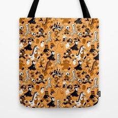 Monster March (Orange) Tote Bag