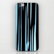 Black and Blue Streaks iPhone & iPod Skin