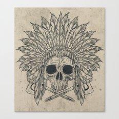 The Dead Chief Canvas Print
