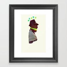 Lime Man Framed Art Print