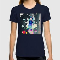 Liftoff Womens Fitted Tee Navy SMALL