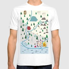 summer camp SMALL White Mens Fitted Tee