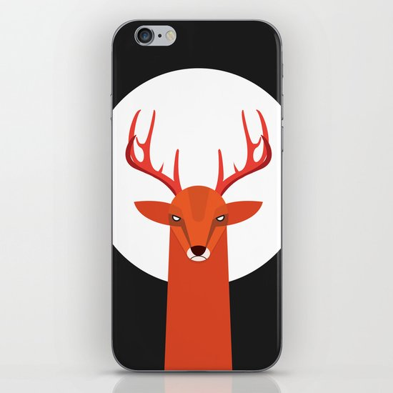 Deer and Moon iPhone & iPod Skin