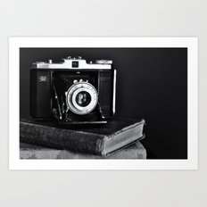 Old Camera, Old Books Art Print