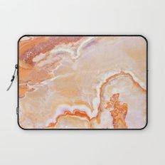 Peach Onyx Marble Laptop Sleeve