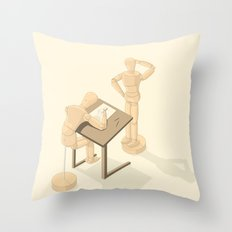 Drawing Throw Pillow