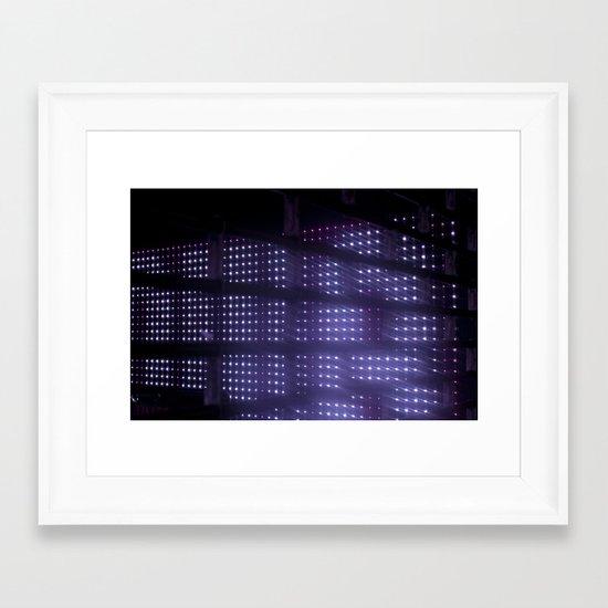 Purplights Framed Art Print