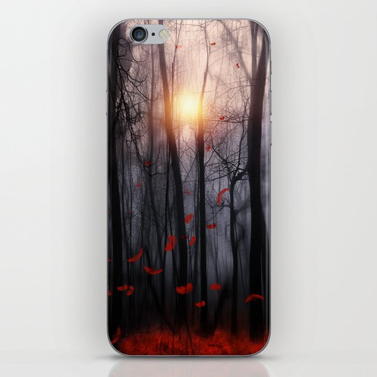 Red feather dance  -  by Viviana Gonzalez iPhone & iPod Skin