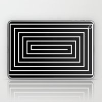 Black & White Spiral Laptop & iPad Skin