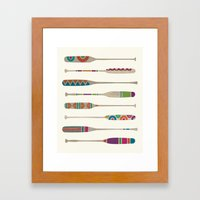 Funky Paddles Framed Art Print