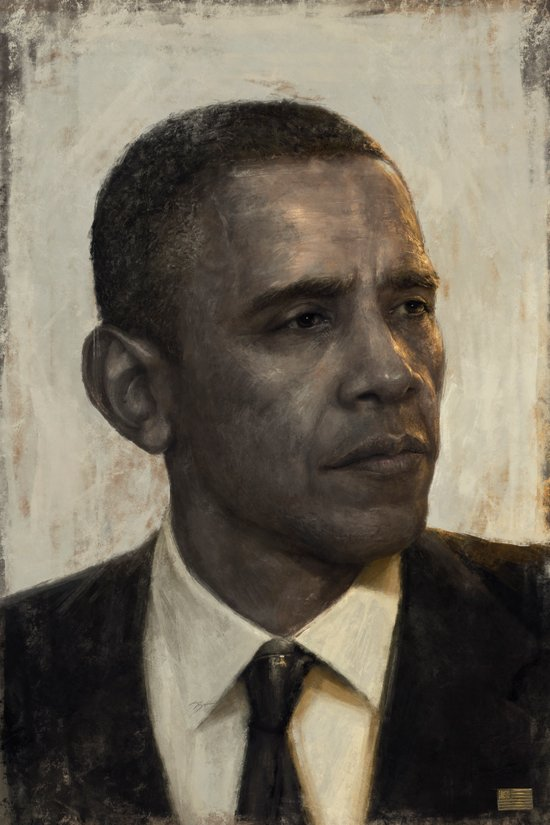 """Golden Age"" - Portrait of President Barack Obama Art Print"