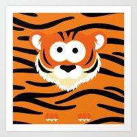Minimal Tiger Art Print