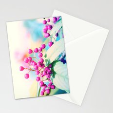 Pink autumn pearls Stationery Cards