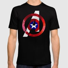 Captain America Avengers Mens Fitted Tee SMALL Black