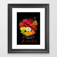 My name is Tomatoe Framed Art Print