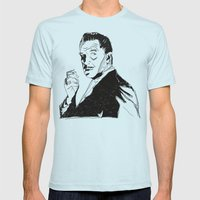 Vincent Price Mens Fitted Tee Light Blue SMALL