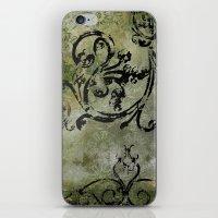 Green Patterns iPhone & iPod Skin