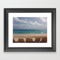 View From The Beach Framed Art Print