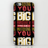 iPhone & iPod Skin featuring BIG BROTHER IS WATCHING … by Matthew Taylor Wilso…