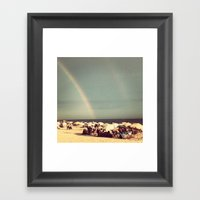 Goodbye! Welcome! Framed Art Print