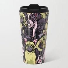 Social French Bulldog Travel Mug