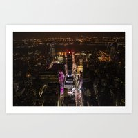 Looking down over Times Square Art Print