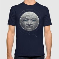 The Moon Mens Fitted Tee Navy SMALL
