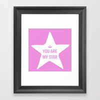 You Are My Star Framed Art Print