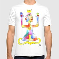TIGNA REALE Mens Fitted Tee White SMALL