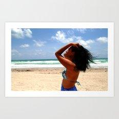 Beach Woman Art Print
