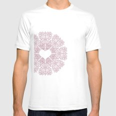 Love Lace Mens Fitted Tee SMALL White