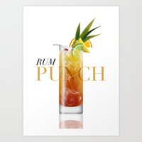 Rum Punch Art Print