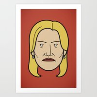 Face Of Breaking Bad: Sk… Art Print