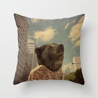 Mr. Downtown Throw Pillow