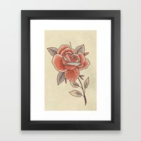 Rose On A Stem Framed Art Print