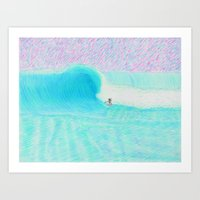 SURF GUITAR no. 1 | WATER COLOR Art Print