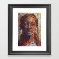 Man in Pastel Framed Art Print