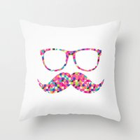 Funny Girly Pink Abstrac… Throw Pillow