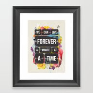 Framed Art Print featuring Time Of Your Life by Kavan And Co