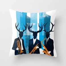 Horn Section Throw Pillow